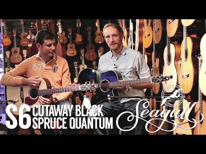 Seagull S6 Cutaway black & S6 Spruce Quantum