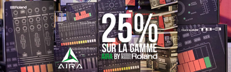 25% sur la gamme Aira by Roland !