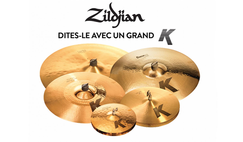 15 % de réduction sur toute la gamme K Zildjian et K Custom