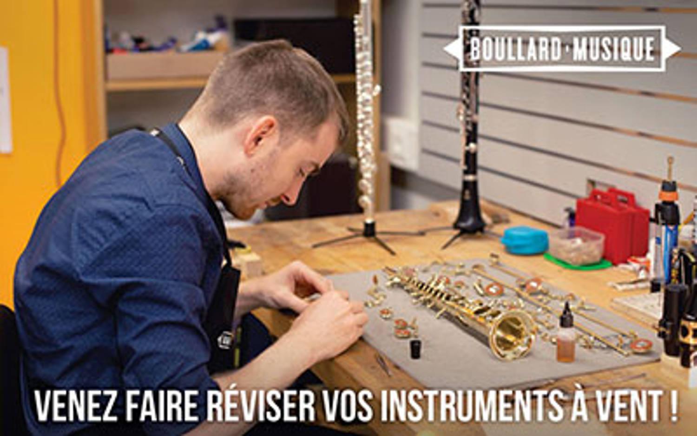 Révision de vos instruments à vent chez Boullard Musique ! C'est maintenant !