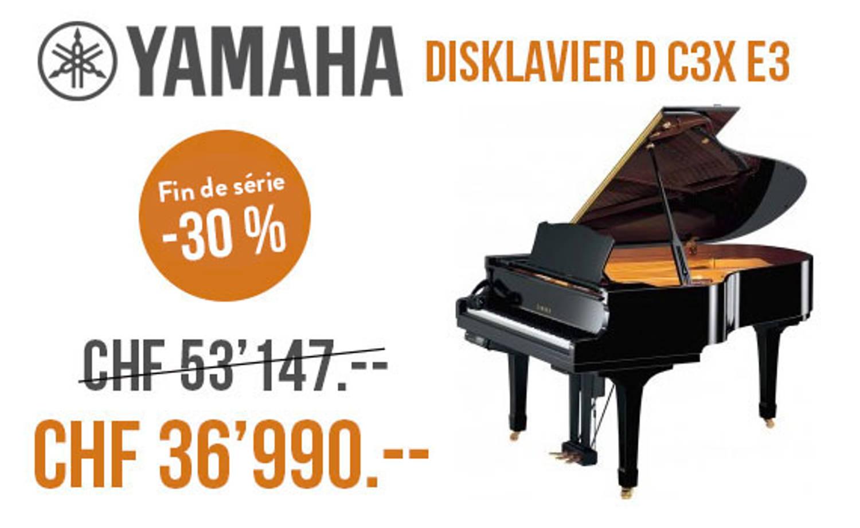 Piano Yamaha C3X : 30 % de réduction sur le piano légendaire