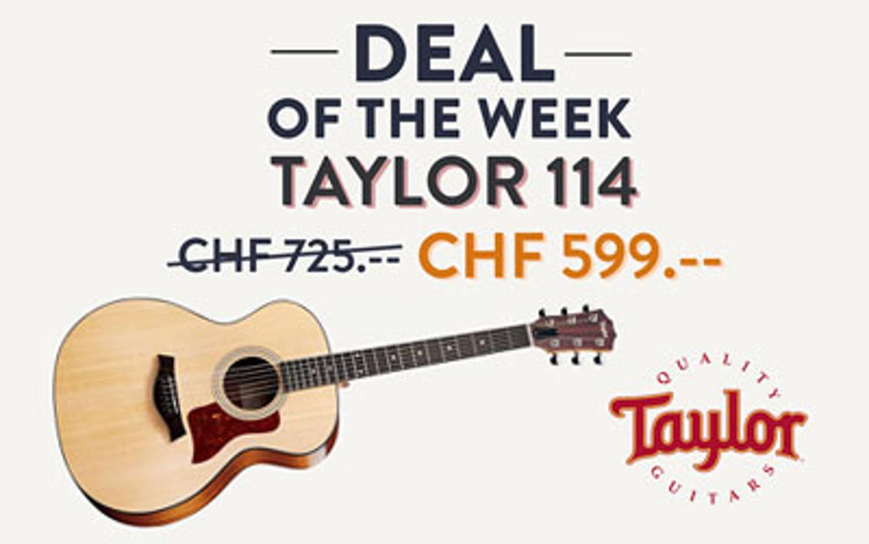 Guitare acoustique Taylor 114 : offre exceptionnelle unique en suisse
