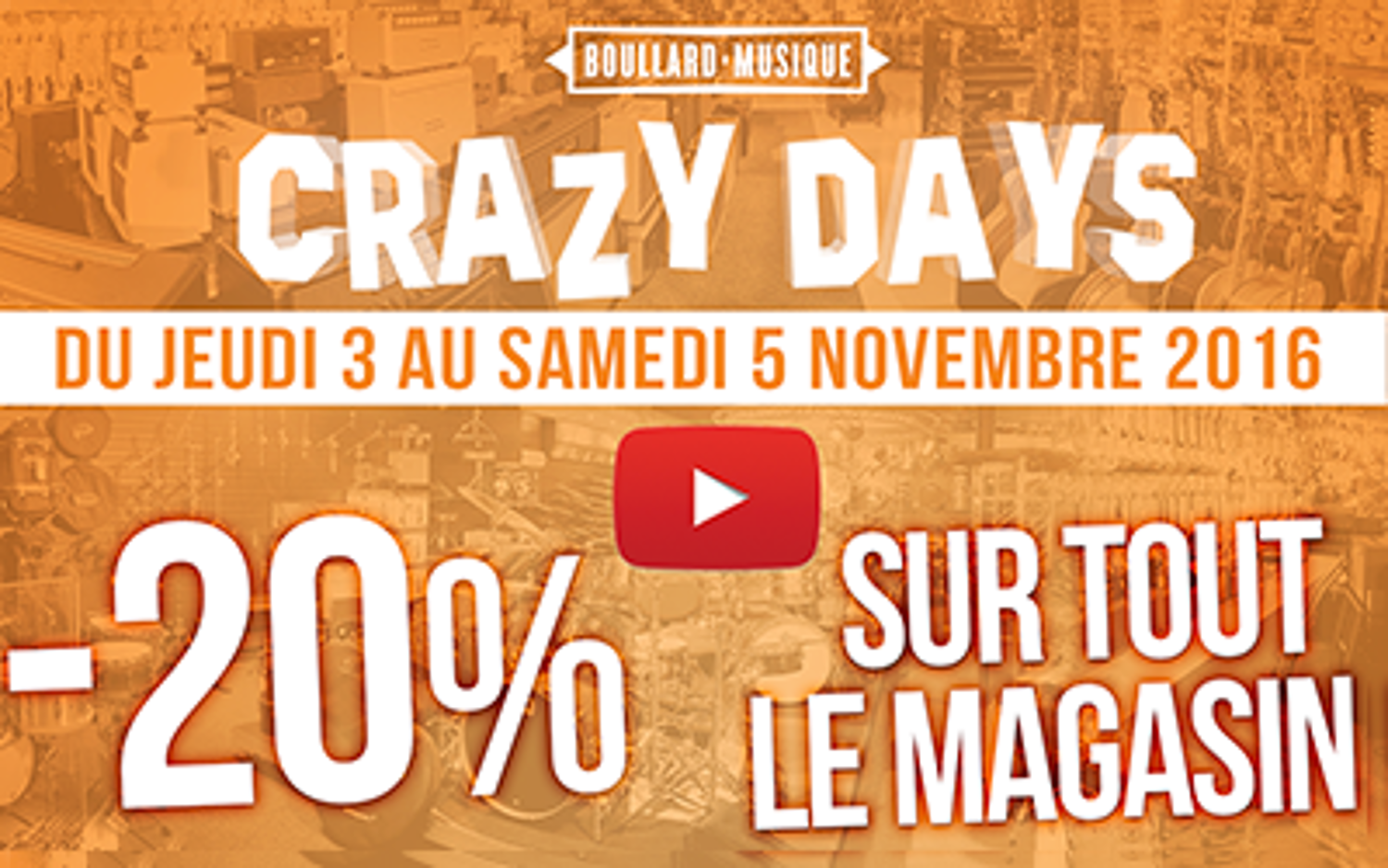 CRAZY DAYS – 20 % sur tout le magasin !