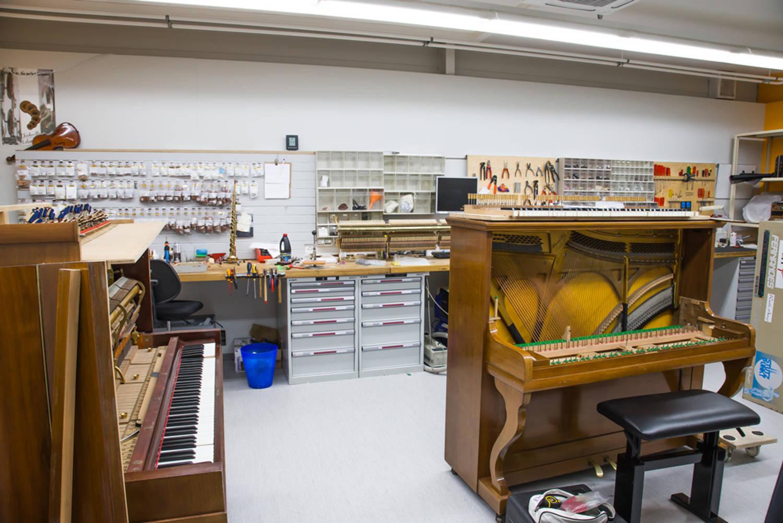 Atelier de réparation d'instruments