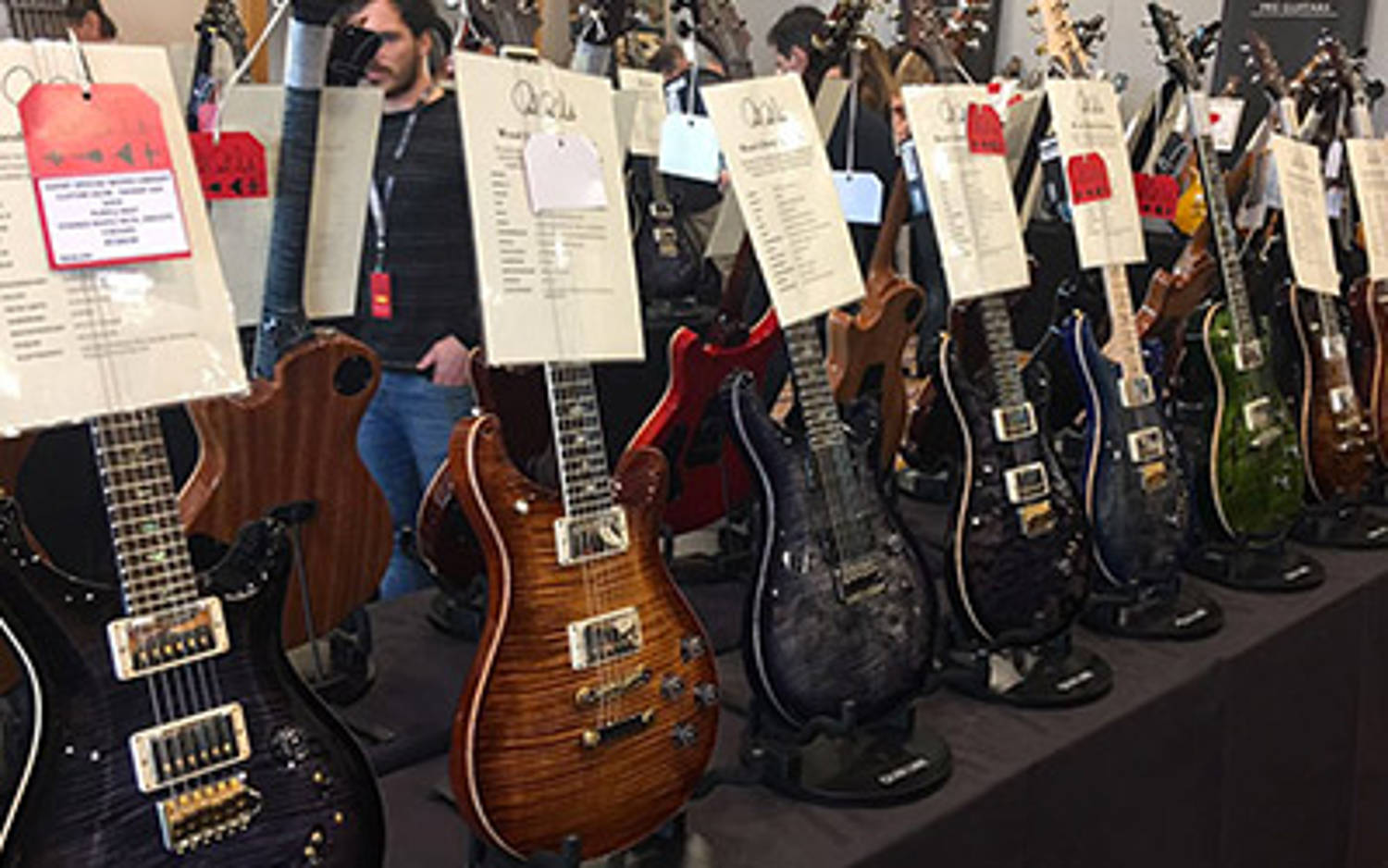 Sélection de guitares PRS à Londres !