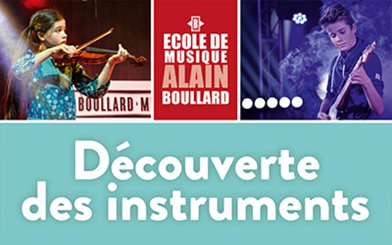 Découverte des instruments le samedi 13 mai 2017 de 10h à 14h