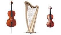 Catégorie produits Violons / Harpes