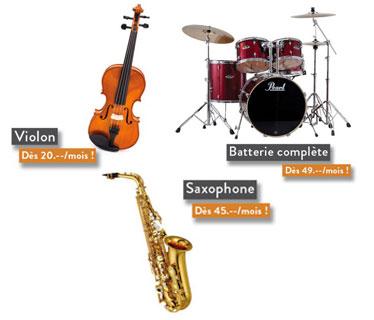 Locationd'instruments de musique