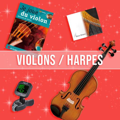 Idées cadeaux violons & harpes