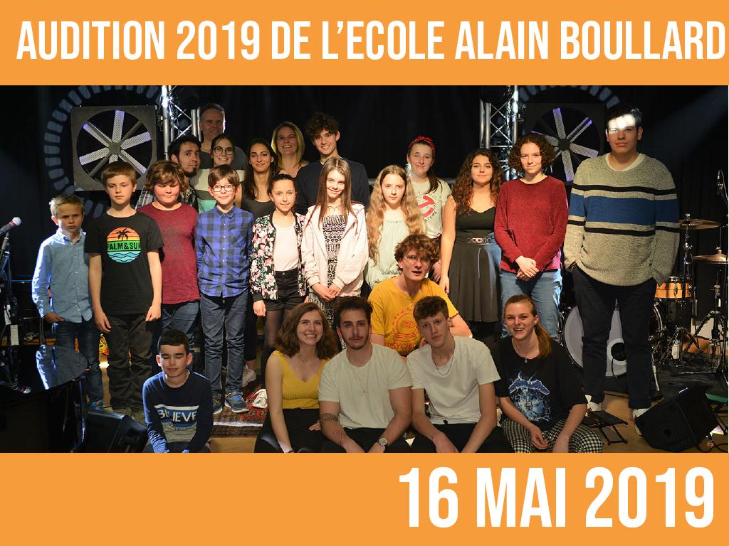 AUDITION 2019 DE L'ECOLE ALAIN BOULLARD