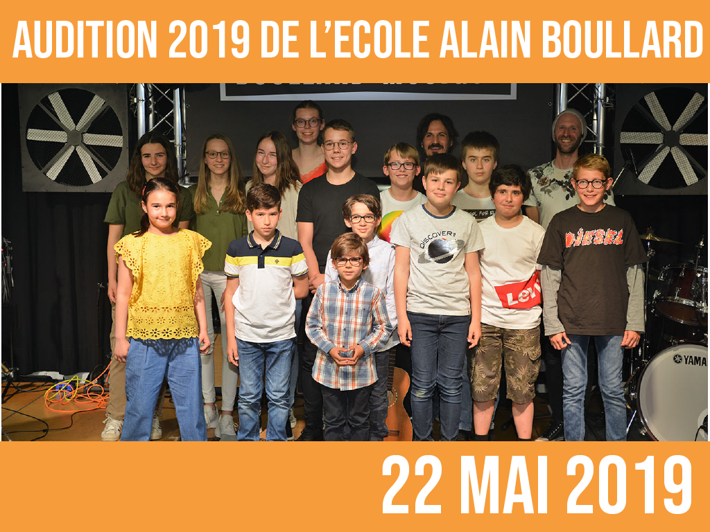 AUDITION 2019: 22 mai
