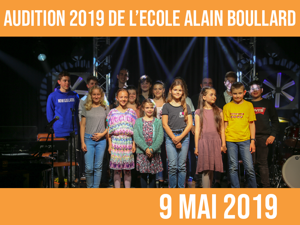 AUDITION 2019: 9 mai