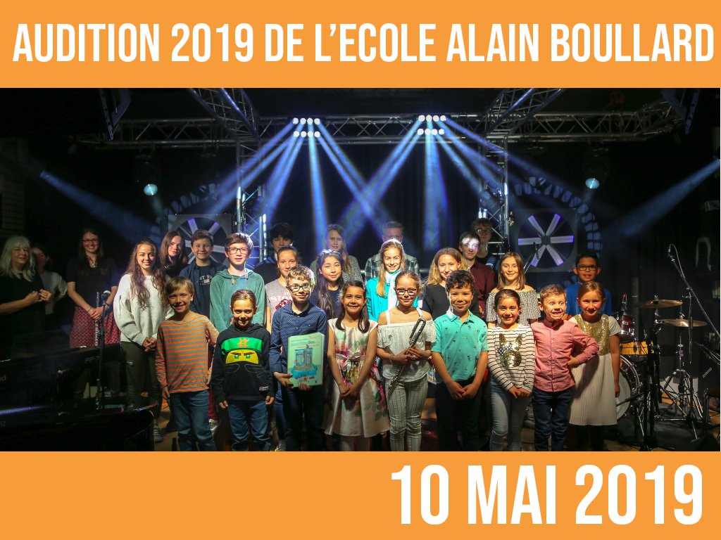 AUDITION 2019: 10 mai