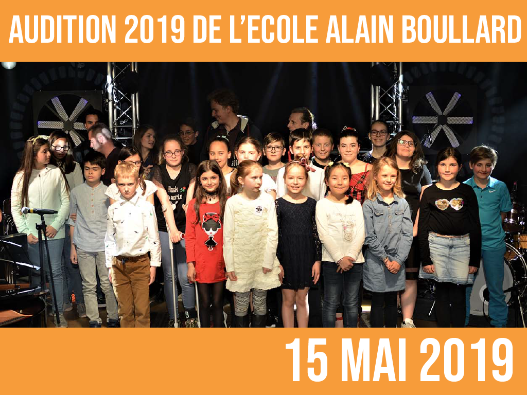 AUDITION 2019: 15 mai