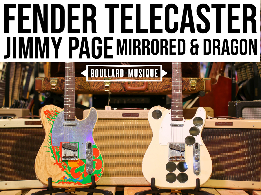 Guitare Fender Telecaster Jimmy Page Mirrored & Dragon