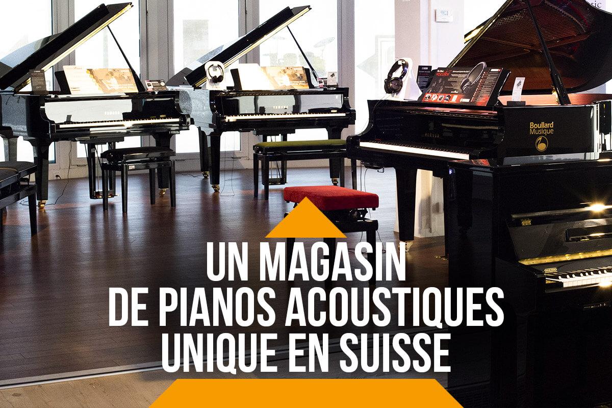 Un magasin de pianos acoustiques unique en Suisse
