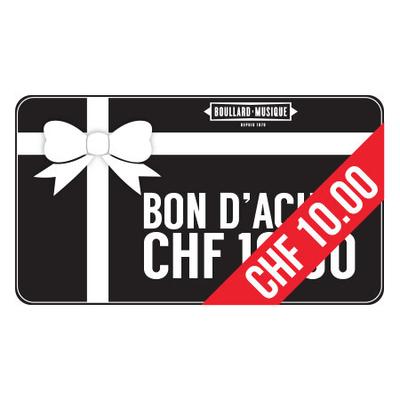 BMB Bon d'achat de 10 CHF