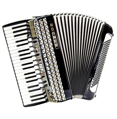 Hohner Midi c atlantic 4s 4 voix 41 touches 120 basses 11+3 registres / système électronique Hohner