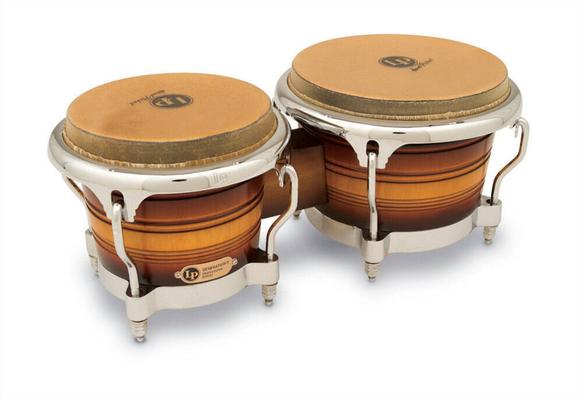 Latin Percussion LP201AX-2DW Bongos Generation II bois Dark Wood, Chrome HW