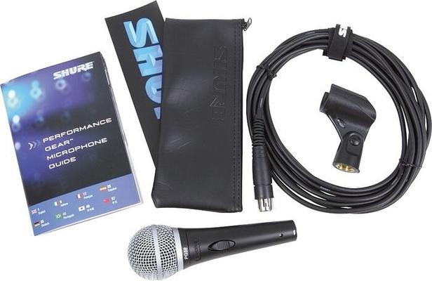 Shure PGA58-QTR-E Microphone Dynamique 1/4» Câble