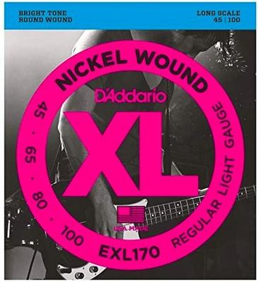D'Addario EXL170 Nickel Round Wound Long Scale .045-.100 Regular Light