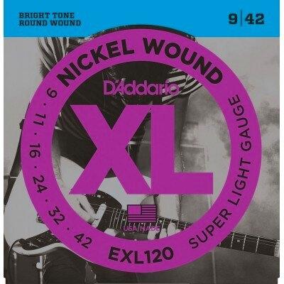 D'Addario EXL120 Nickel Round Wound .009-.042 Super Light