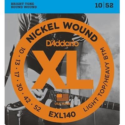 D'Addario EXL140 Nickel Round Wound .010-.052 Light Top / Heavy Bottom
