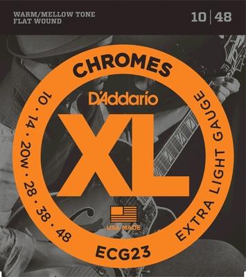 D'Addario ECG23 Chromes Flat Wound .010-.048 Extra Light