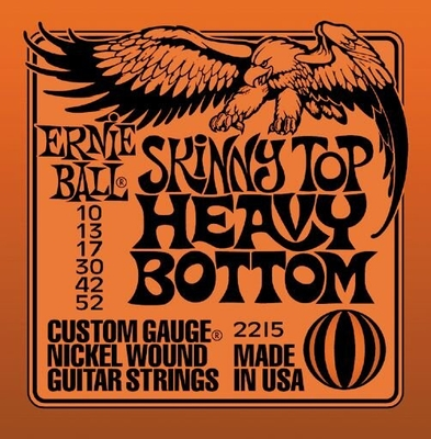 Ernie Ball 2215 Nickel Wound .010-.052 Skinny Top Heavy Bottom