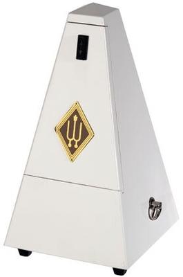 Wittner Pyramide bois blanc brillant
