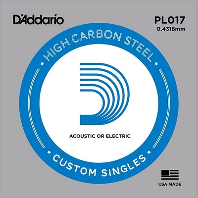D'Addario PL017 Plain Steel