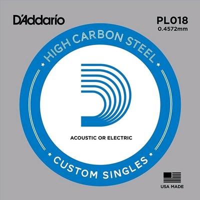D'Addario PL018 Plain Steel