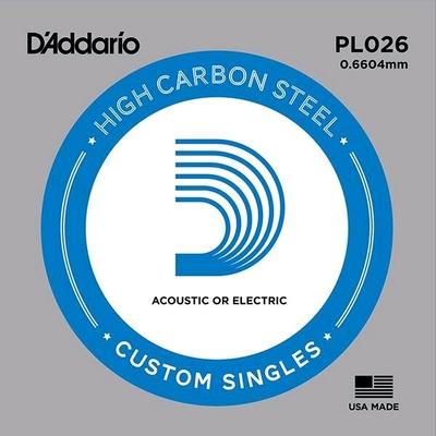 D'Addario PL026 Plain Steel