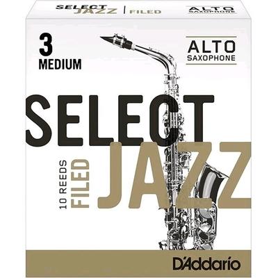 Rico Select Jazz Sax alto mib 3M Filed 10 Pièces