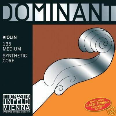 Thomastik Dominant 135 Medium Violon 4/4 Jeu MI-E Aluminium Moyen