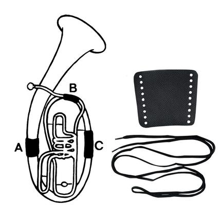 Gewa Protection de main Cuir Cor ténor section B