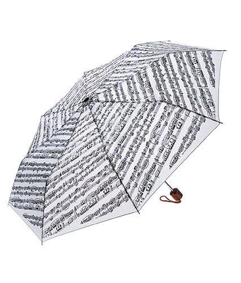 AIM GIFTS Parapluie mini portée musicale blanc