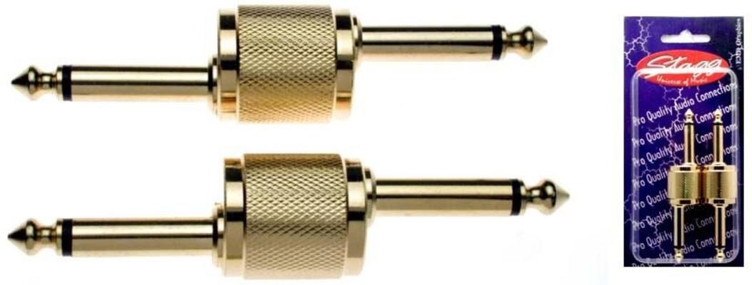 Stagg AC-PPD Jack Mâle Mono 6.35mm / Jack Mâle Mono 6.35mm Coudé
