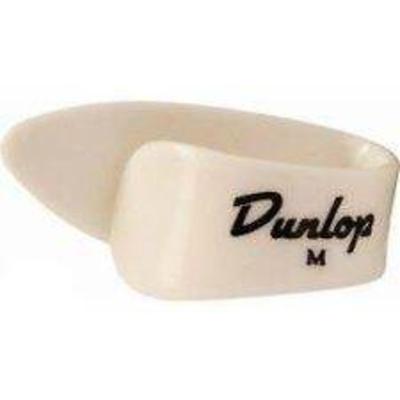 Dunlop 9002R Sachet de 12 pièces White Thumbpicks Medium