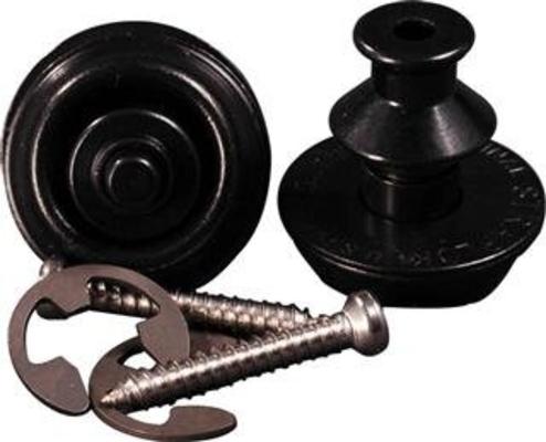 Dunlop SLS1033BK Straplock System Dual Design set of 2 Black
