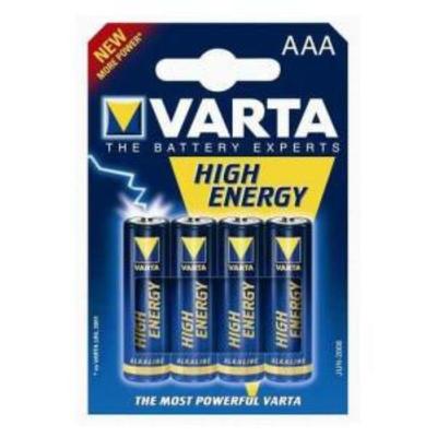 Varta High Energy 1.5 V Micro AAA Pack 4 piles
