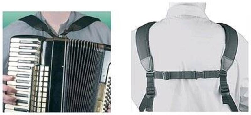 Neotech Bretelles accordéon en Néoprène noires