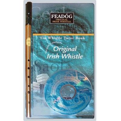 Féadog Flûte irlandaise en Ré – laiton – Kit avec CD