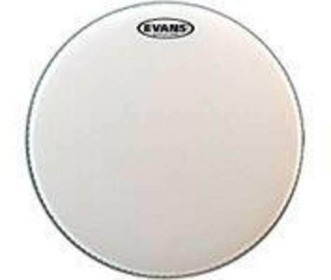 Evans B14DRY Genera Dry snare batter with muffle ring & dry vents single ply coated white 14»