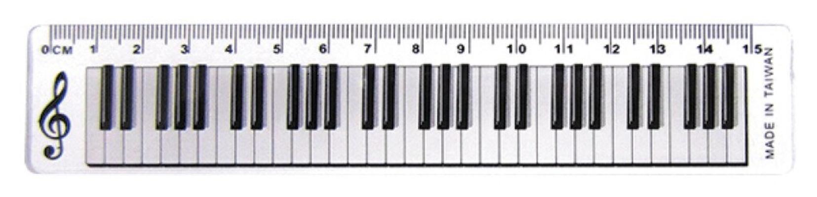 Cadeau 15cm Regle Ruler Keyboard Design Clear     Fournitures