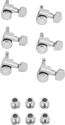 Fender Locking Stratocaster/Telecaster Staggered Tuning Machines (Polished Chrome) (6)