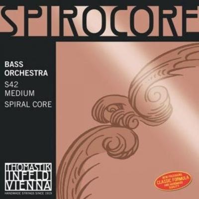 Thomastik Cordes Contrebasse Spirocore moyen orchestre 4/4 Jeu