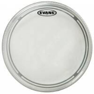 Evans TT14EC1 EC1 Tom with edge control ring 14» simple ply Clear
