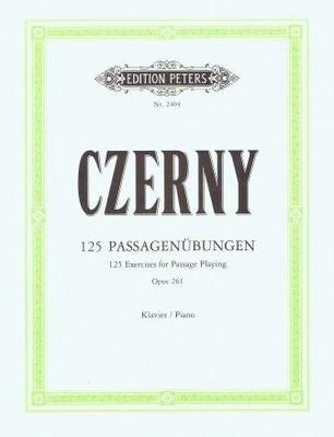 125 exercices de passages op. 261 Fortschrittende Passageubungen / Czerny Carl / Peters