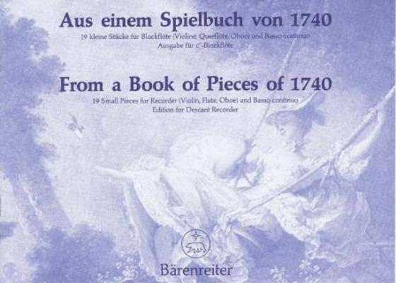Aus einem Spielbuch von 1740 /  / Bärenreiter